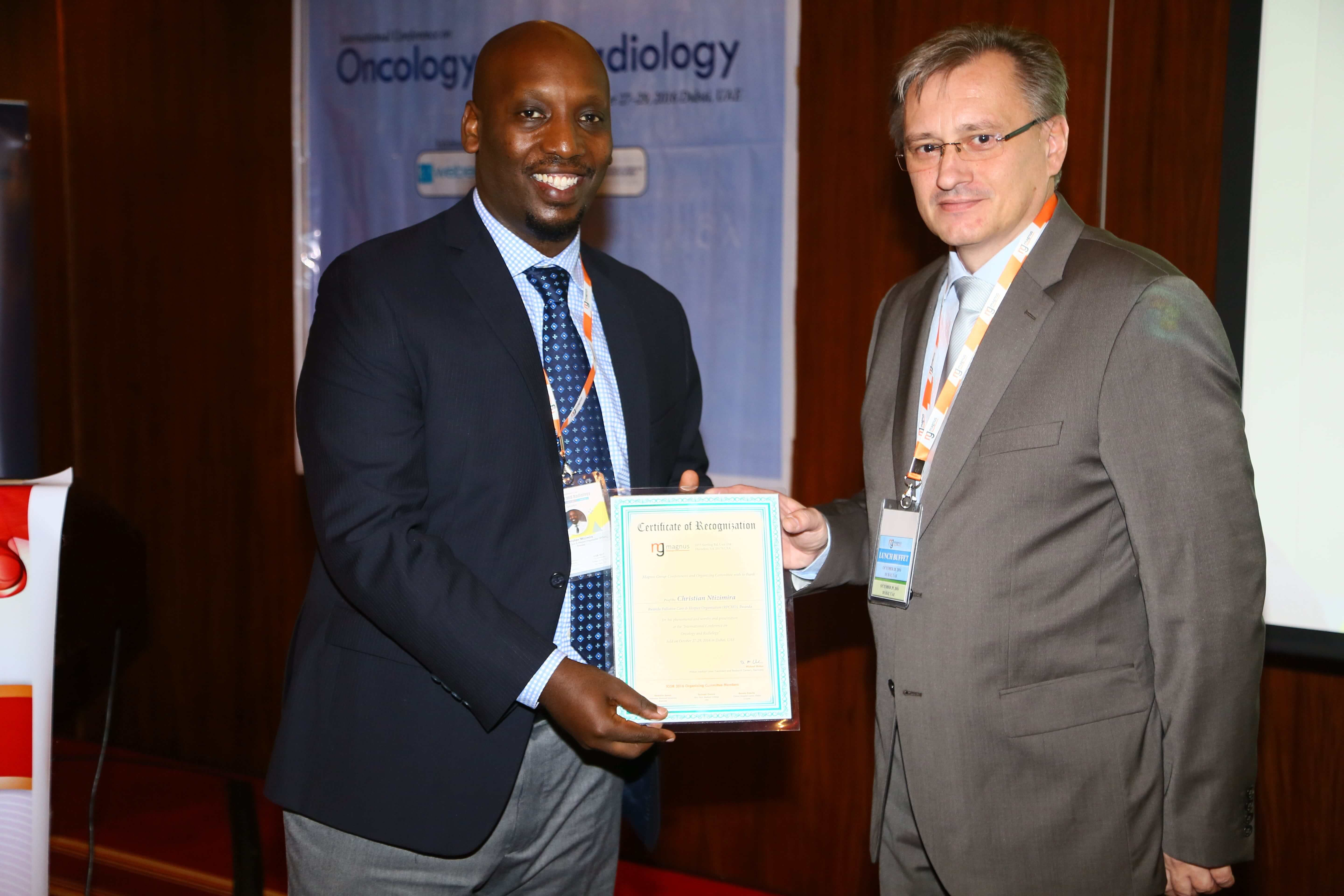 Cancer education conferences - Dr. Christian Ntizimira