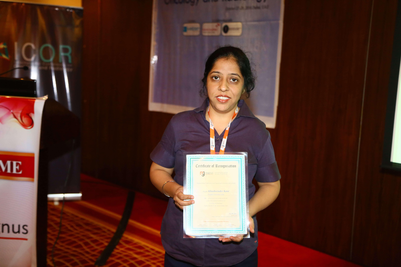 Cancer conference - Dr. Khushwinder Kaur