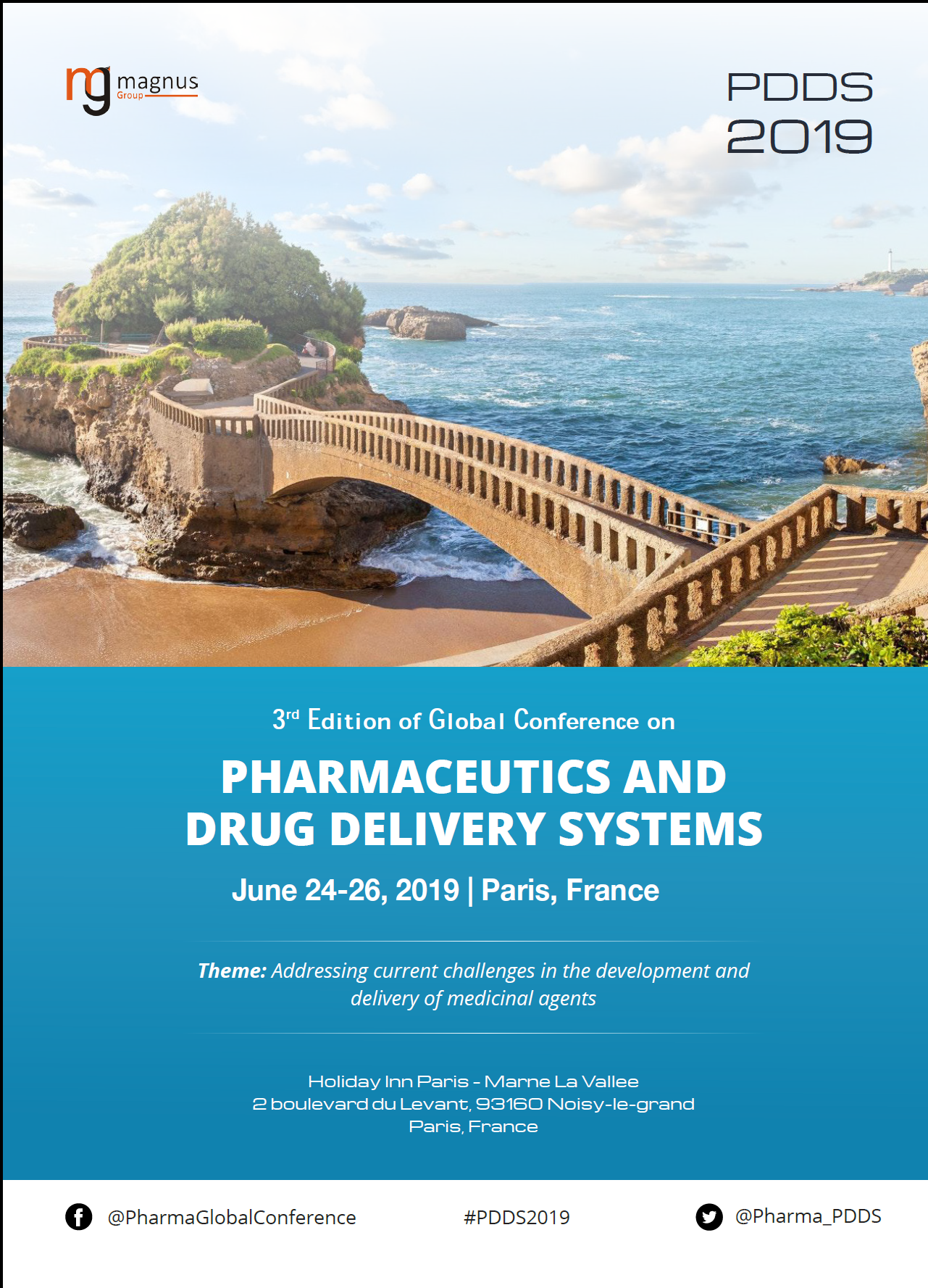 3rd Edition of Global conference on Pharmaceutics and Drug Delivery Systems Program