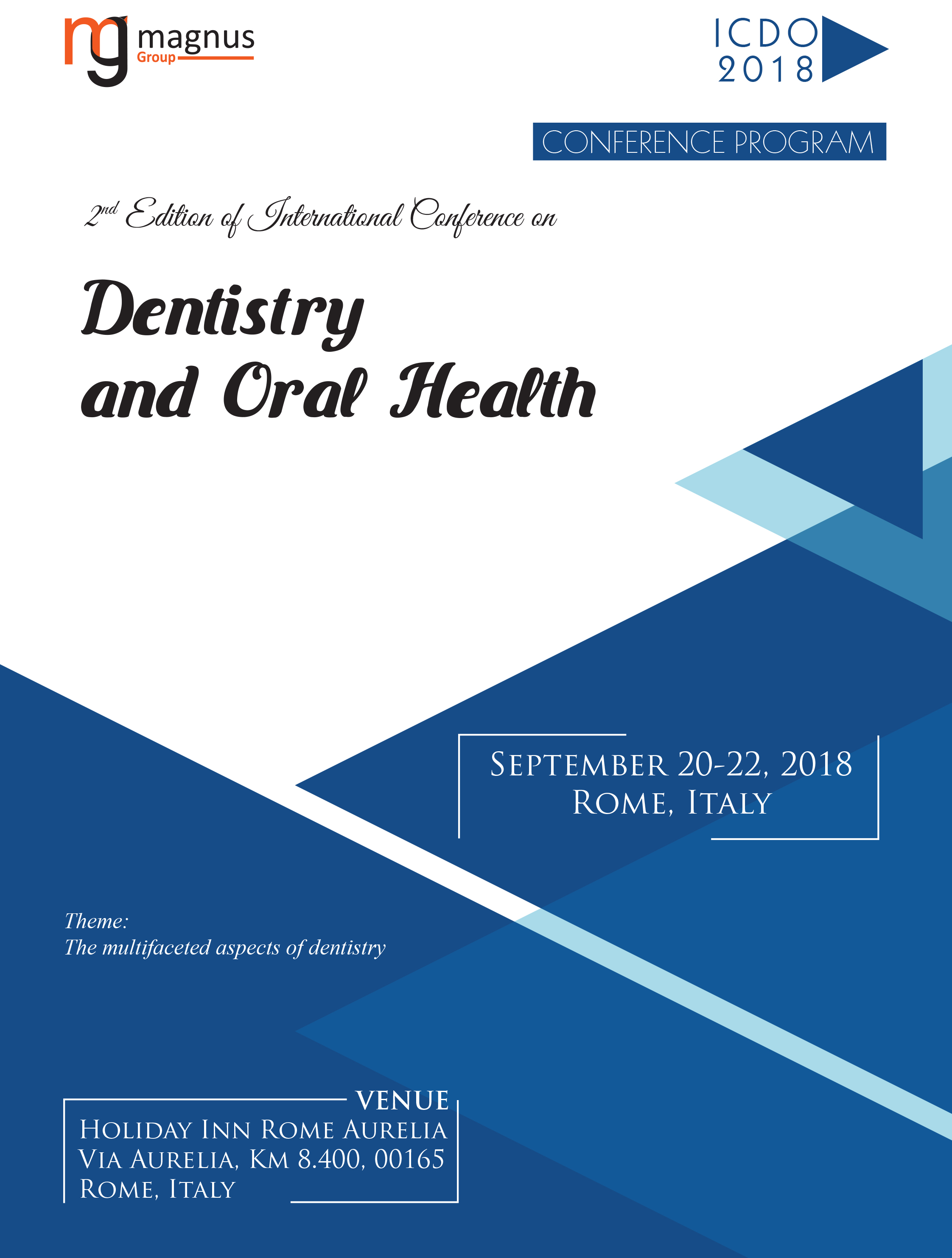 2nd Edition of International Conference on Dentistry and Oral Health Program