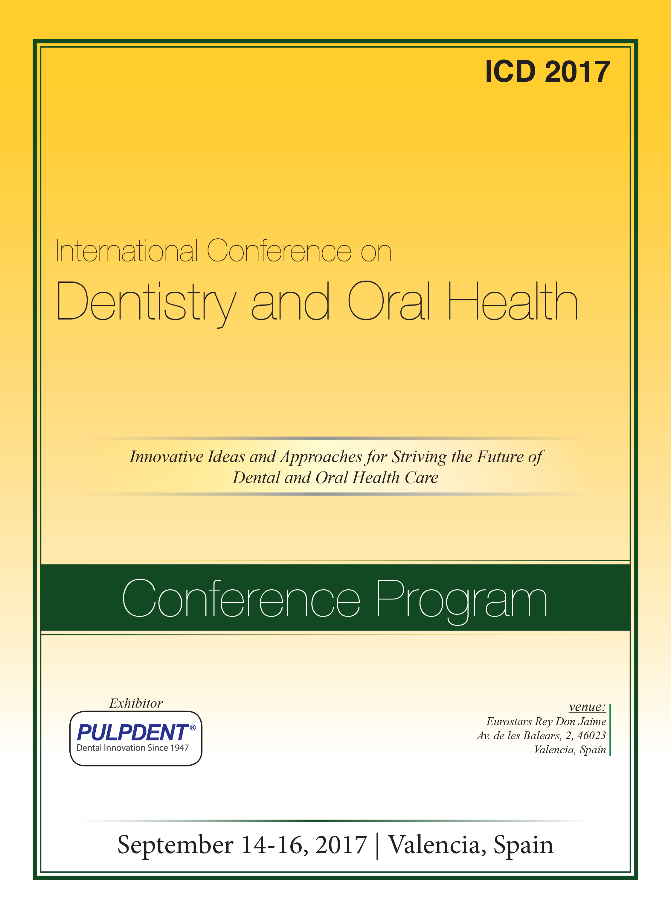 International Conference on Dentistry and Oral Health Program