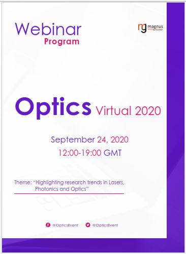 International Lasers, Photonics and Optics Technologies Webinar Program