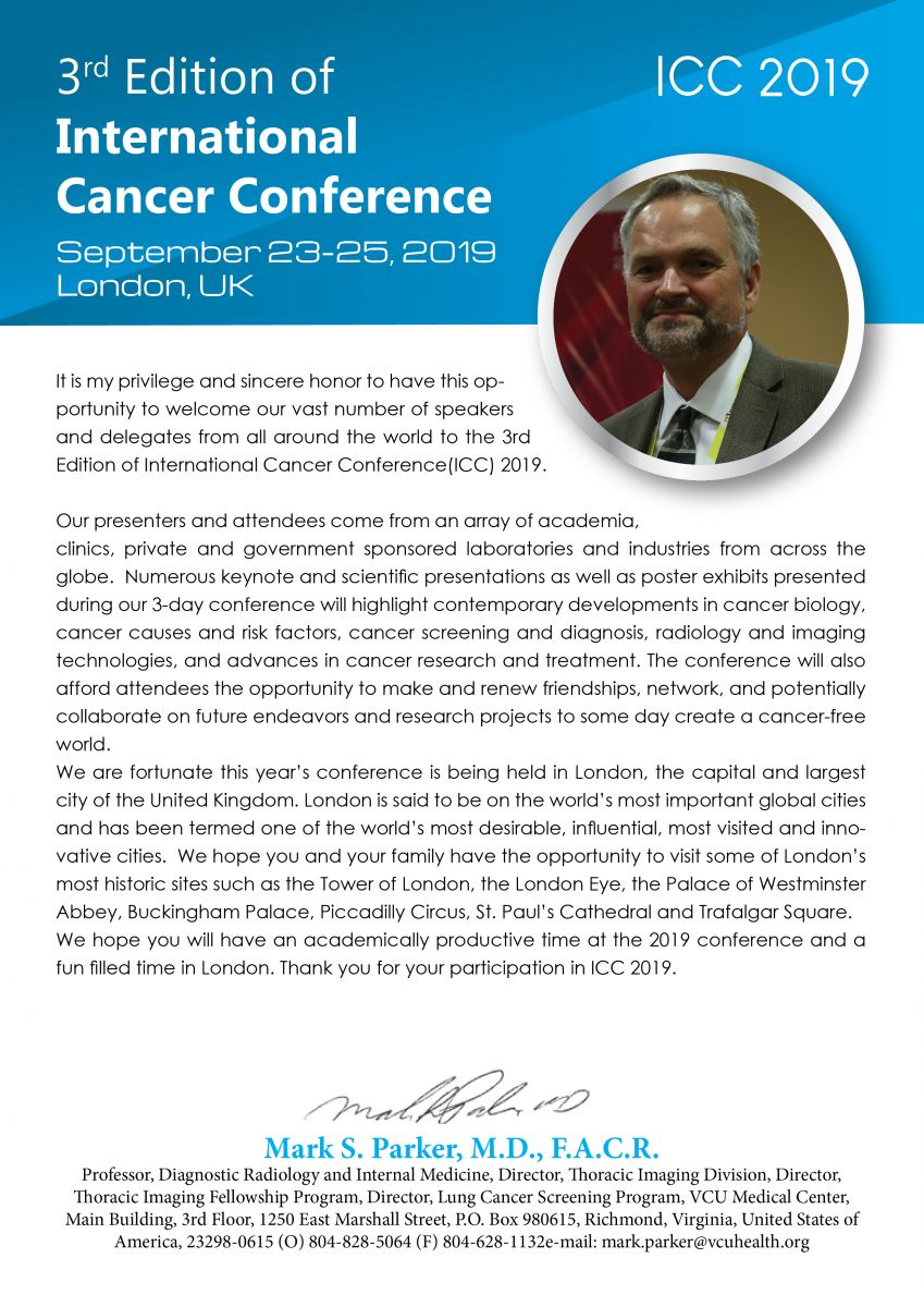 International Cancer Conference 2019 | Cancer Conferences